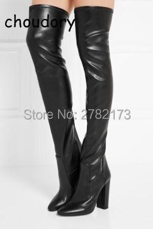 2017 SpringVelvet Over-the-Knee Boots bright blue red comfortable velvet thigh high boots block heels women's fashion boots 10cm peter block stewardship choosing service over self interest