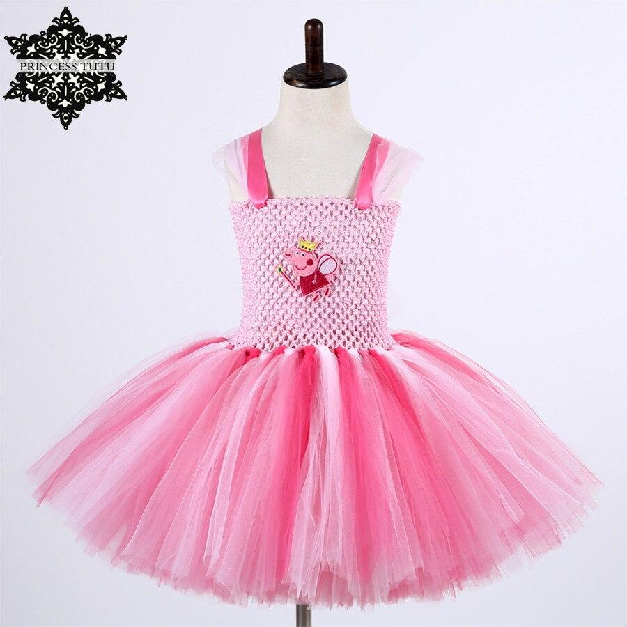 Princess tutu niñas cerdo de la historieta tutu vestido de fiesta de ...