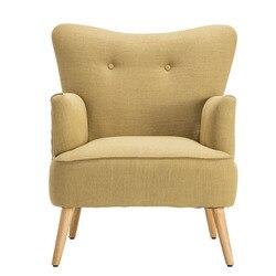 Modern Kursi Kursi Kayu Leg Furniture Rumah Ruang Tamu Kursi Kamar Tidur Kursi Rekreasi Kursi Sayap Desain Berlapis Aksen