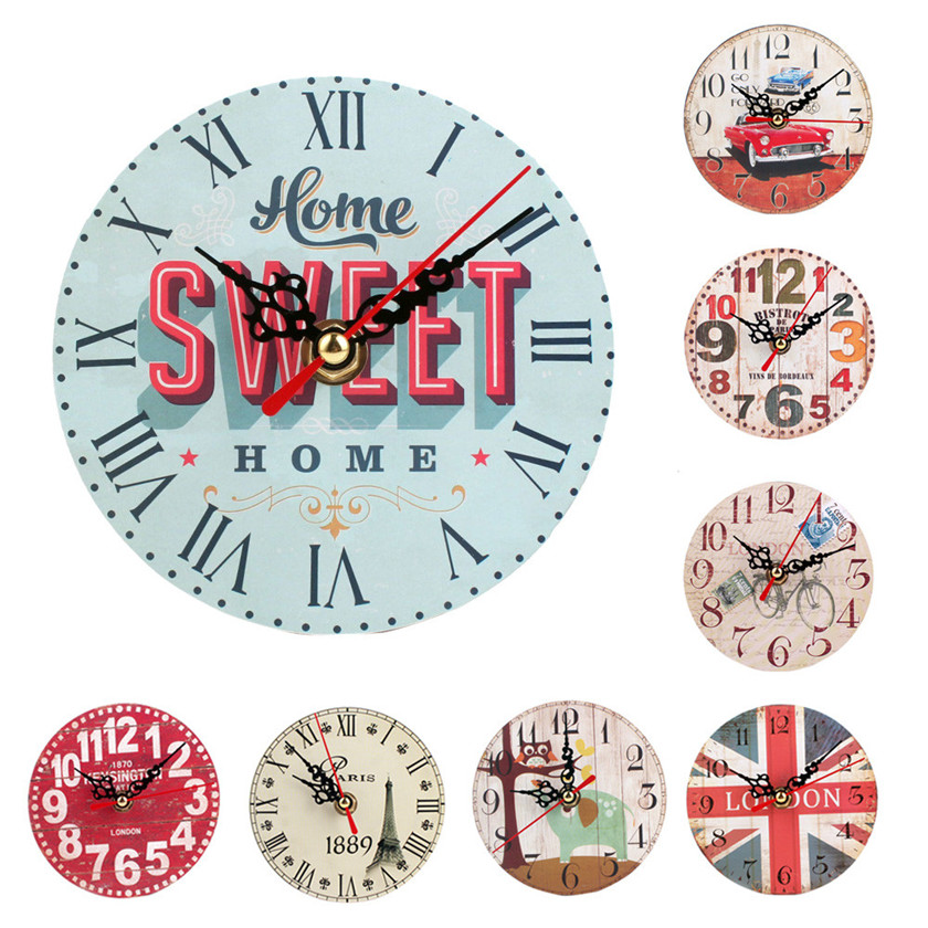 Vintage Style Silent Antique Wood Wall Clock Runs Perfectly Silently And Keeps Accurate Time