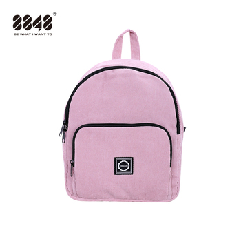 8848 Women New Mini Corduroy Backpack For Teenagers Girls Preppy Pink Cute Shoulder Bags Kids Small Backpacks Feminine Packbags