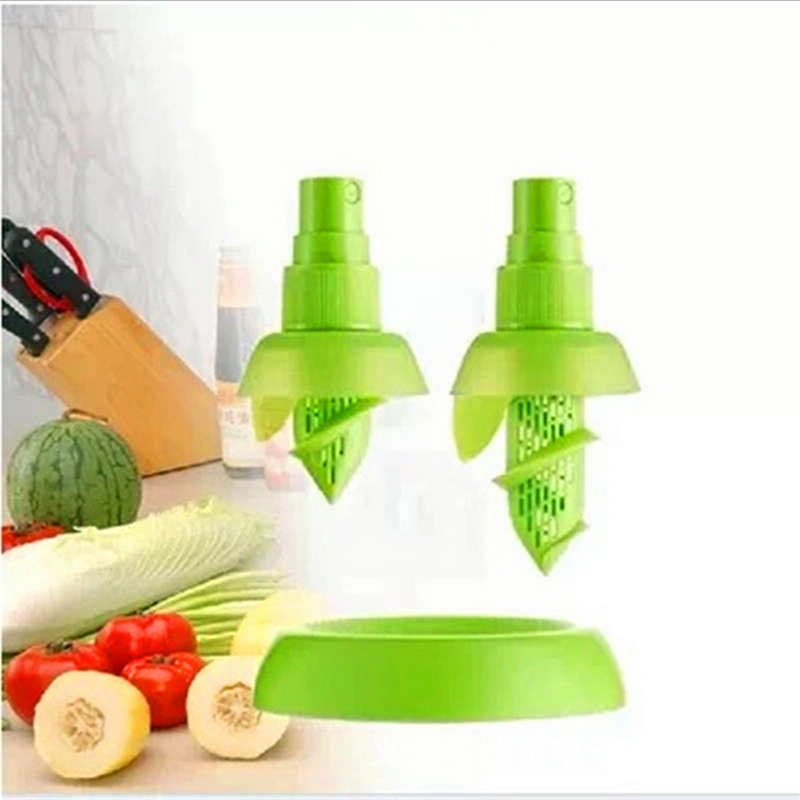 2Pcs set Creative Lemon Sprayer Fruit Juice Citrus Lime Juicer Spritzer Kitchen Gadgets Spray Fresh Fruit Juice Random Color