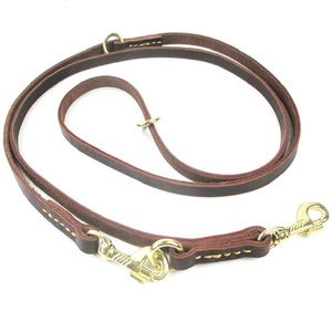 Image 3 - Multifunctional two Dog Leash Genuine Leather Double Leashes P chain Collar Adjustable Long Short pet Dog Walking Training Leads