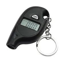 5-100 PSI 바 미니 LCD 디지털 타이어 타이어 키 체인 공기 압력 게이지 자동차 오토바이