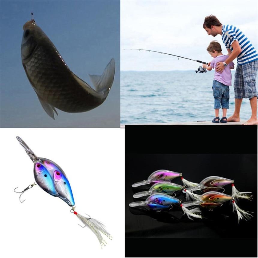 1 Pcs Fishhook Minnow Fishing Lure 9.7cm Plastic Lure Hard Bait Fishing Hook Bass Crankbit Accessory Fishing Jig Accessories M25