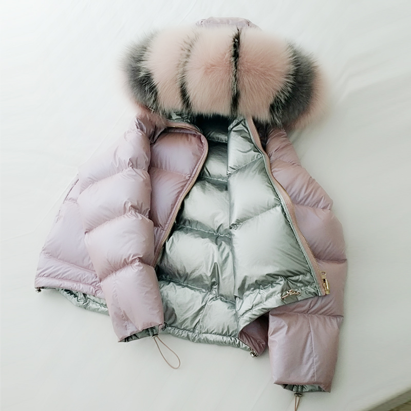 Veste d'hiver femmes 2019 nouvelle mode lâche épaissir femme hiver manteau chaud Parka vers le bas coton vêtements grand col de fourrure