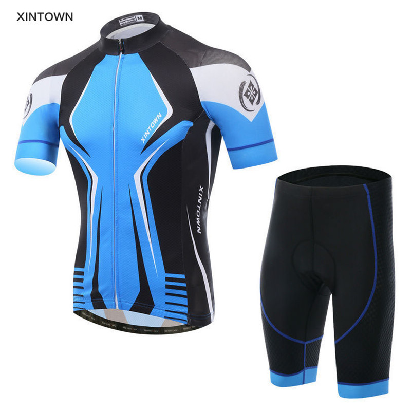 2016 XINTOWN Summer Outdoor Bike Pro Team Men Sport Cycling Jersey Ropa Ciclismo/Road Bicycle 3D Padded Cycling Clothing Sets