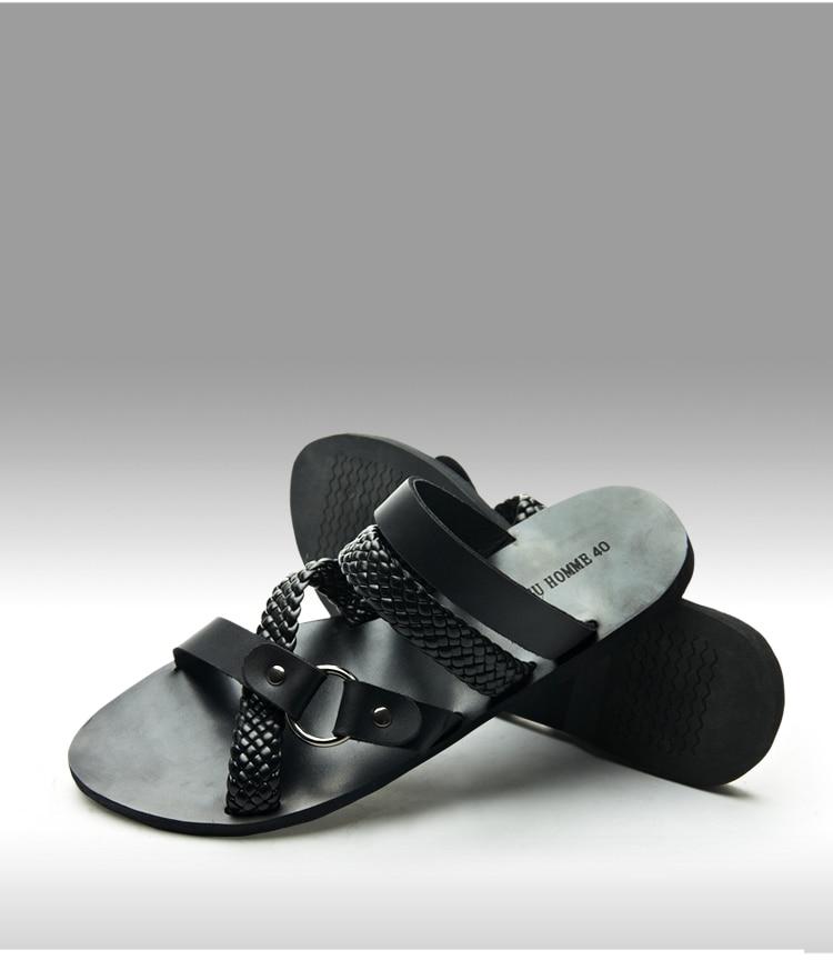 Men's 100% Genuine Italian Leather Driving Black Shoes 2015 Summer Slip On New Brand Designer