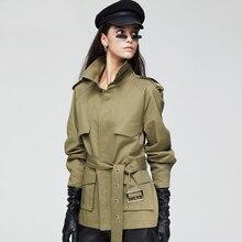 2019 High Quality Women Coat Trench Business Casual Overcoat Classic Harajuku Streetwear Windbreaker Belt