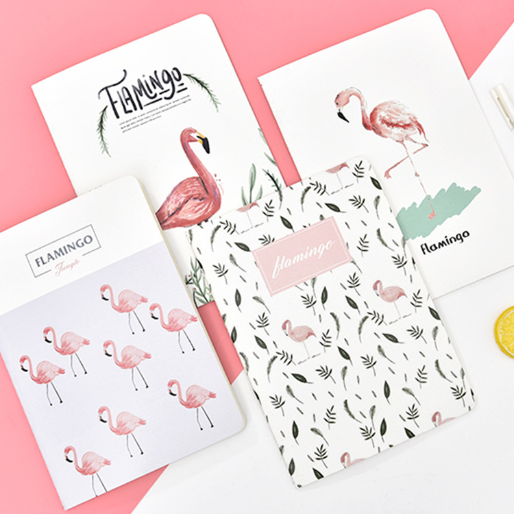 Creative Notebook B5 Large Flamingo Sakura Cat Blue Whale Agenda note Diys 30-page car line notebook office supplies file.