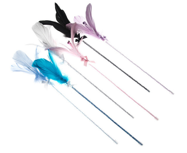 Jouets chaton chat animaux usd1.35 pièces/pièce | Jouets de jeu, pôle de pêche, bâtons fleur avec cloche, 20 pièces/lot, vente en gros