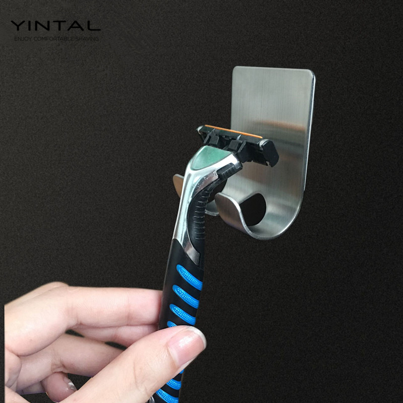 Men Shaving Shaver Shelf 304 Stainless Steel Razor Holder Shaving Razor Rack Bathroom Viscose Razor Hook (not Include Razor)