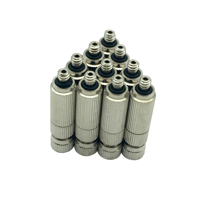 C011 Natural Fog Fine Fogging Anti Drip High Pressure Water Sprayer Nozzle Nickle Plating Mist Nozzles 50pcs/pack Free Shipping