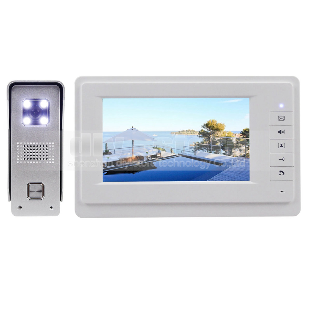 DIYKIT 7 Wired Video Door Phone Doorbell Intercom Home Security 700TVLine Camera Fashionable Monitor