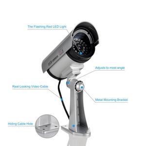Image 3 - 2 قطعة وهمية وهمية كاميرا CCTV كاميرا مراقبة متجر أمن الوطن مصباح ليد كاميرا محاكاة كاميرا مقاوم للماء في الهواء الطلق