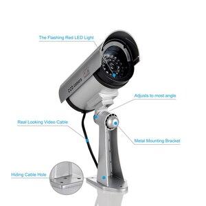 Image 3 - 2 adet kukla sahte kamera CCTV gözetim kamera dükkanı ev güvenlik LED ışık simülasyon kamera su geçirmez açık kamera