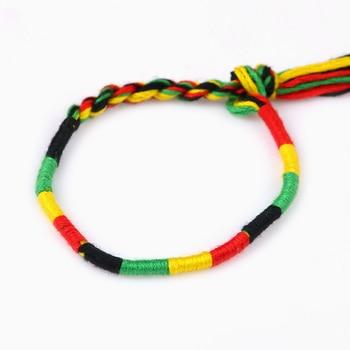 Women brazilian bracelet multicolor braided boho chain bohemian tassel strain handmade sport chain friendship bracelets unisex 2