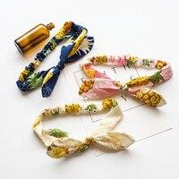 Fashion Headband For Women Bow Flower Adult Print Hair Accessories For Girl Wreath Hair Bows Hairband