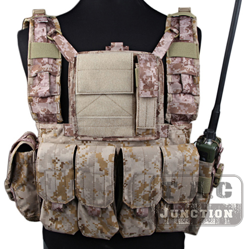 Emerson Tactical MOLLE Rhodesian Reconnaissance Vest RRV Lightweight Adustable Chest Rig AOR1 Panel Plate Carrier with Pouches