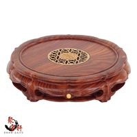 Woodcarving Handicraft Circular Base Of Real Wood Of Buddha Stone Are Recommended Vase Home Furnishing Articles