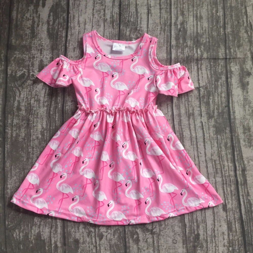baby girls summer dress clothing girls flamingo dress children girls boutique milk silk dress soft dress summer flamingo dress new arrival baby girls summer milksilk dress girls floral dress children soft boutique dress summer floral dress clothing