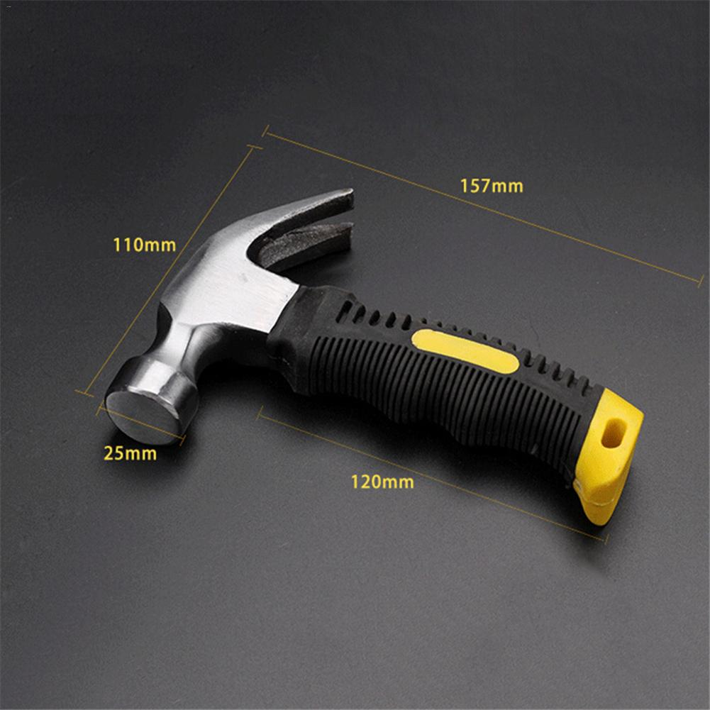 Multifunction Mini Safety Claw Hammer Plating Polishing Surface Ergonomic Design Plastic Handle Portable Hammer Tool 0 25kg multifunction claw hammer carbon steel nail hammer steel handle woodworking household hand tools page 5