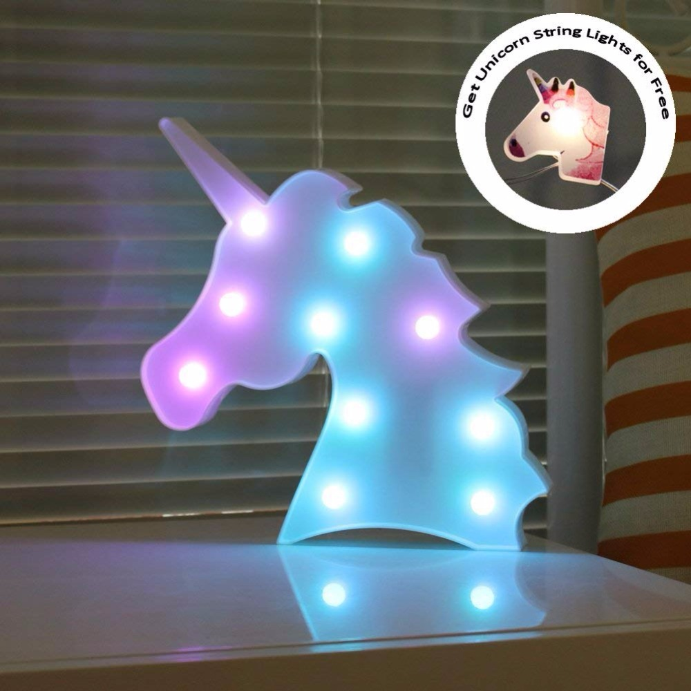 DELICORE Changeable Light Unicorn Head Led Night Lights Animal Marquee Lamps On Wall For Children Party Bedroom Decor Gifts delicore purple light unicorn head led night lights animal marquee lamps on wall for children party bedroom decor gifts s027 p