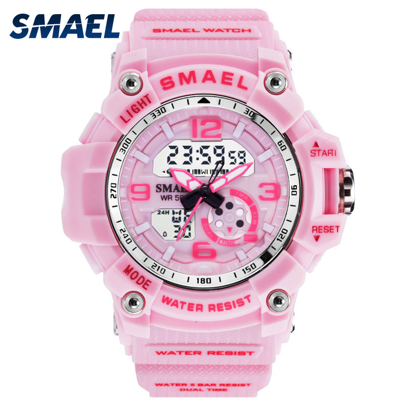 SMAEL Woman Watches Sports Outdoor LED Watches Digital Clock