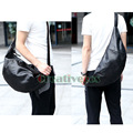 Korean Fashion Men PU Leather Laptop School Book Cross Body Messenger Shoulder Back pack Sling Chest Casual Bag
