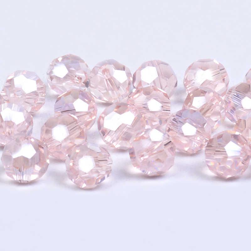 Mieszane 32 fasetowane piłka kryształki austriackie 4 6 8 mm piłka nożna luźne koraliki modułowe dla mężczyzn biżuteria bransoletka naszyjnik podejmowania DIY