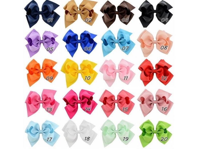 New 20 PCS Baby Big Hair Bows Boutique Girls Alligator Clip Grosgrain Ribbon HU