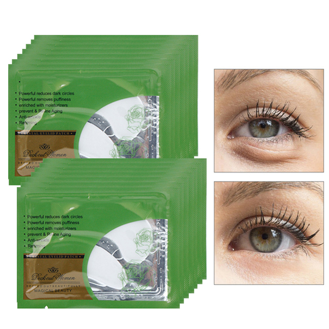 5pair/lot Crystal Eyelid Patch Pads Anti-Wrinkle Crystal Collagen Eye Mask Remove Dark Circles Puffy Eye Masks For Face Care Skin Care