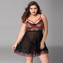 Women Sexy Plus Size Lingerie Babydoll Underwear Hot Erotic Sleepwear Dress Porno Costumes XXL
