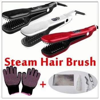 2018 Newest Magic Hair Straight Steam Comb Hair Straightener Brush Electric Steampod Straight Hair Comb Straightener Steam