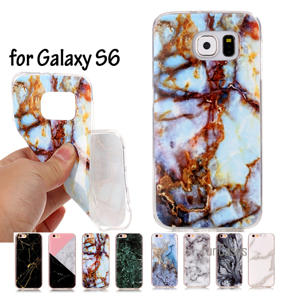 <font><b>SM</b></font>-<font><b>G920</b></font> <font><b>SM</b></font>-G920F Cover Marble Effect Soft Silicon Case Cover For <font><b>Samsung</b></font> Galaxy S6 Phone Cases TPU Capa Funda For <font><b>Samsung</b></font> S6 image