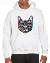 Cat Funny Retro Fashion Weird Trippy Cute Animal Joke Trend 2019 Men High Quality Nerd Hoodies Sweatshirts