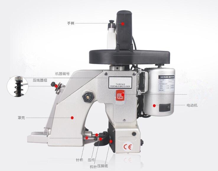 Sealing Machine Portable Electrodynamic Type Sack Closer 220V/50Hz 90W-130W 1PCS инвертор ozio 12v 220v 130w ep13