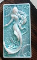 Silicone Mold Mermaid In Sea Foam Now Custom Scented Sea Scented Vegetable Based Handmade Beach Soap
