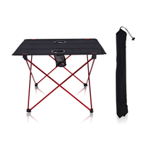 Outdoor folding camping table aluminum portable table light double oxford picnic table barbecue fishing leisure table