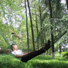 hot deal buy 1pc portable hammock garden outdoor camping travel furniture mesh hammock swing sleeping bed nylon hangnet