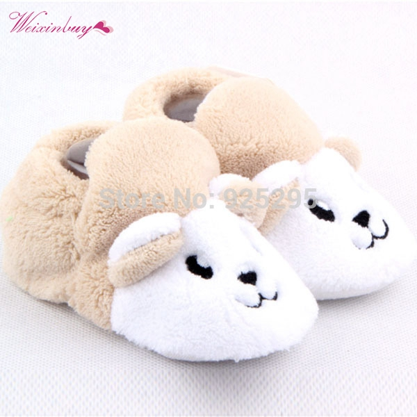 Babys Shoes First-Walker Infant Unisex Cartoon Cotton 0-12M Warm Bear/bee