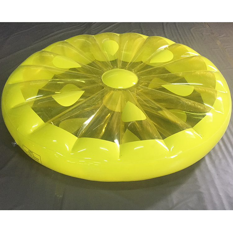 160cm big Lemon Slice Pool Float  Huge Floating Raft Swimming Pools Water Toy yellow lemon float environmentally friendly pvc inflatable shell water floating row of a variety of swimming pearl shell swimming ring