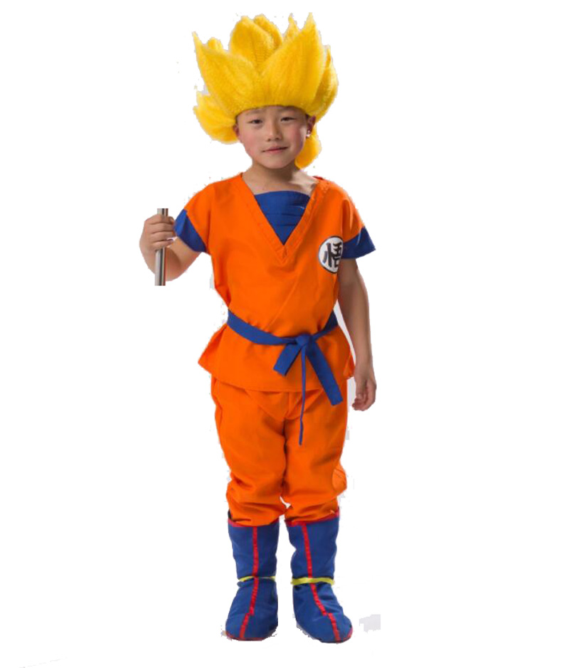 Japanese Children's Halloween Anime Dragon Ball Z Monkey Cosplay Costumes Boys Clothes Kids Party Costume