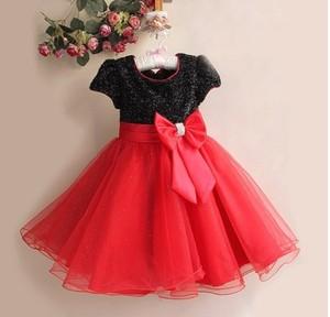 Image 3 - קמעונאות חדש תינוקת חתונה ושמלות מפלגה, חם לבן/אדום עם קשת גדולה ילדה של מדהים נסיכת שמלה, משלוח חינם