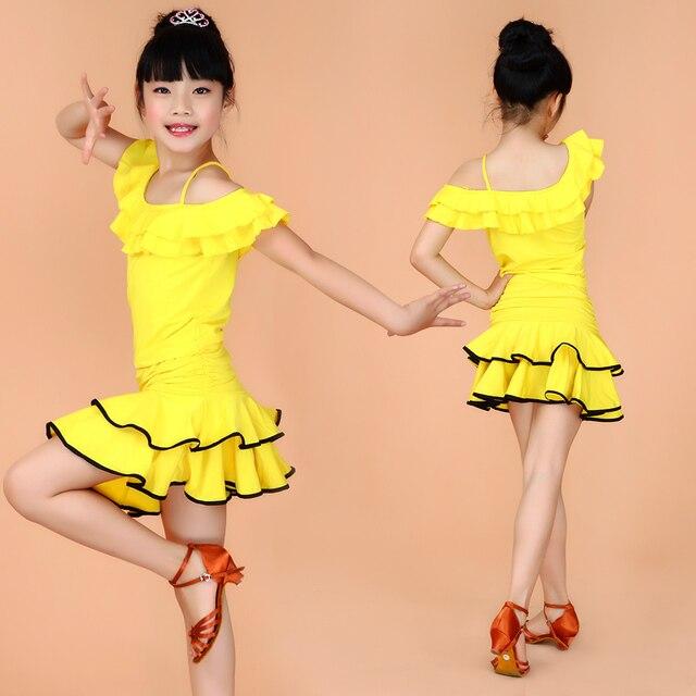b5bb5b60500a3d Meisje kids dance sport jurkjes tango jurk saias samba kostuum kinderen  disfraz infantil latin amerikaanse dans