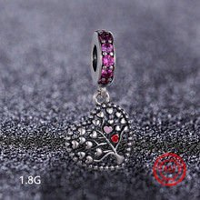 925 Sterling Silver Hanging Beads Life Tree Elephant Pendant Suitable for Pandora DIY Jewelry Making