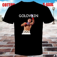 c5db4d7c4a6137 New GGG Gennady Golovkin Team Boxing Logo Boxer Men s Black T-Shirt Cotton  Casual Short