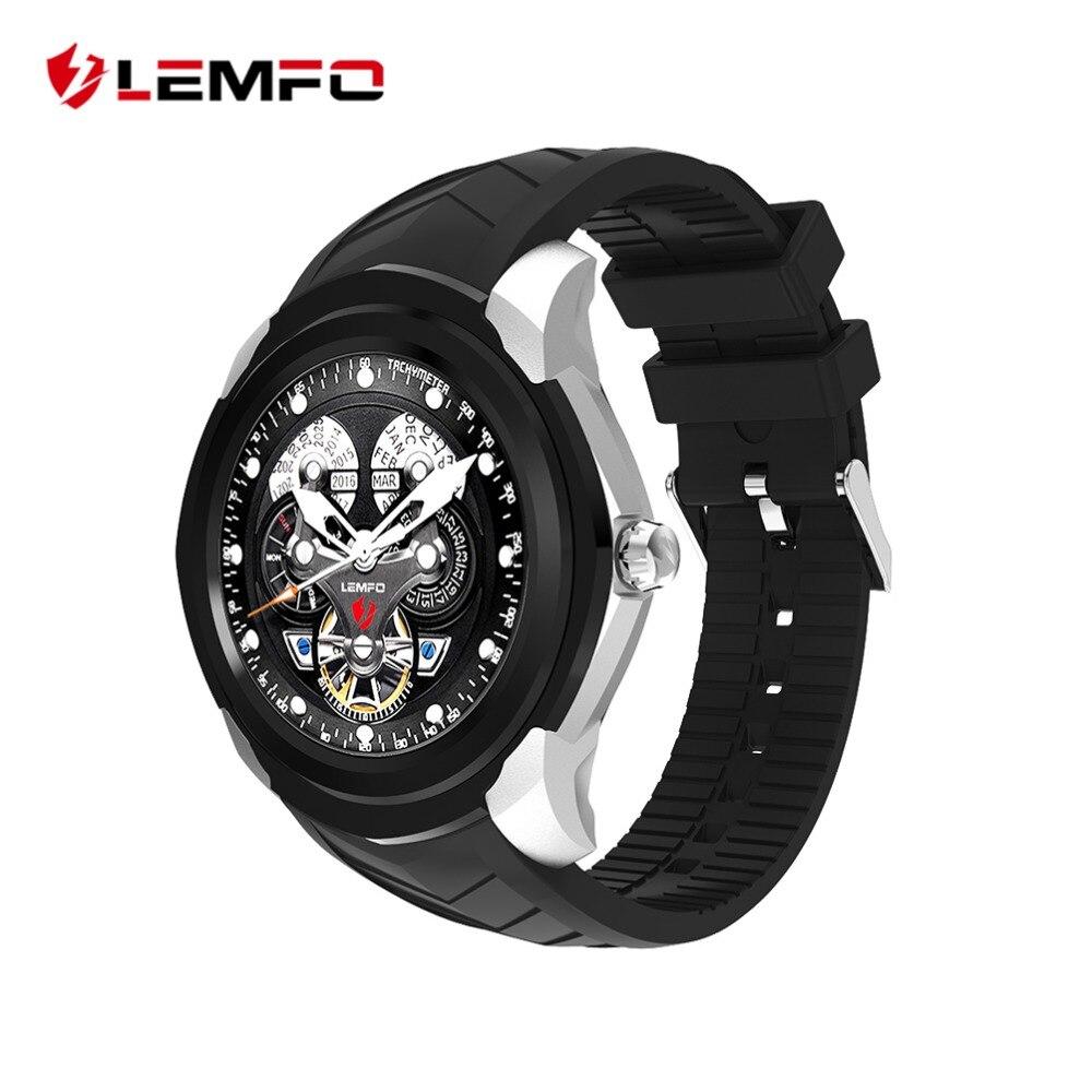 LEMFO LF17 Smart Watch para Android Teléfono 3G tarjeta SIM WIFI GPS con Whatsapp moda hombres podómetro Monitor de sueño