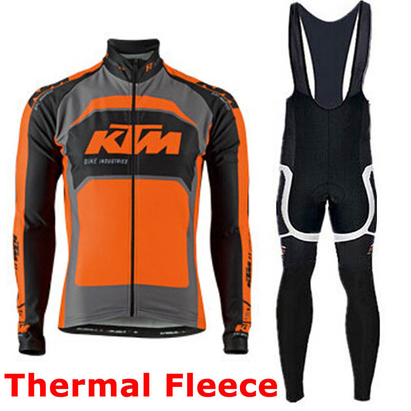 Pro team Ktm Cycling Jerseys Ropa Ciclismo maillot Winter thermal fleece Bicycle clothing mens Bicycle clothing