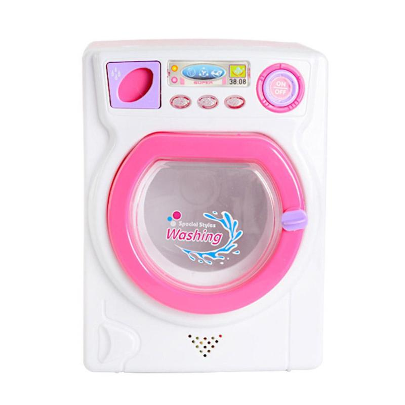 Mini Pretend Play Toy Washing Machine Kids Small Appliances Electric Washing Machine Toys For Children Birthday Christmas Gifts